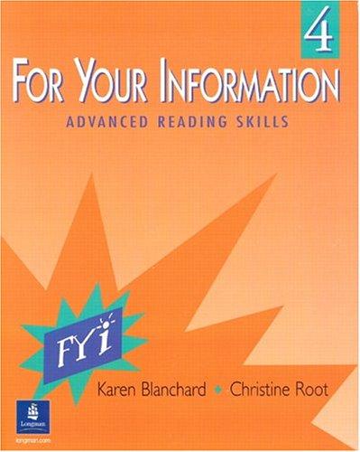 For Your Information, Book 4: Karen Blanchard, Christine
