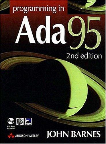 9780201342932: Programming in Ada 95 (International Computer Science Series)