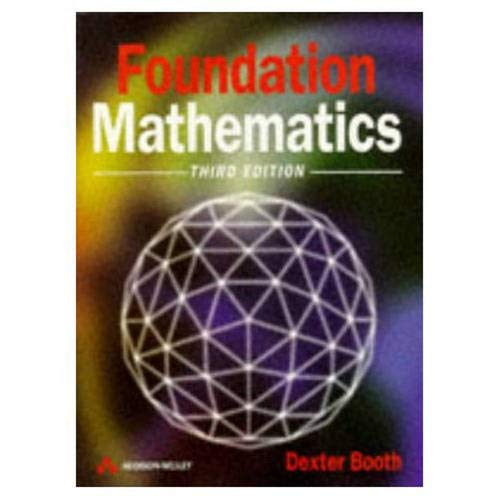 9780201342949: Foundation Mathematics (Modern Applications of Mathematics)