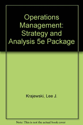 9780201357288: Operations Management : Strategy Analysis (Instructor's Resource Manual)