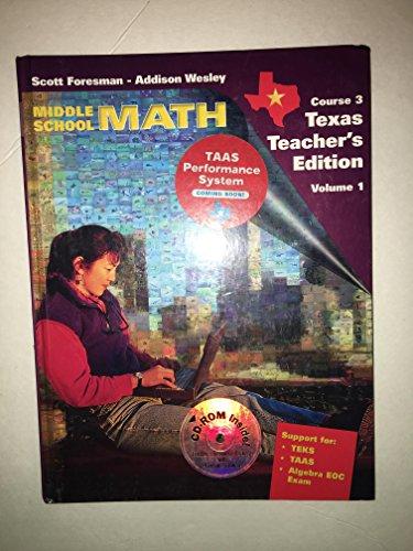 Middle School Math Course 3 Texas Teacher's Edition Volume 1 (Volume 1): Randall Charles
