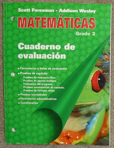9780201365306: Cuaderno de evaluacion, Matematicas, Grado 2