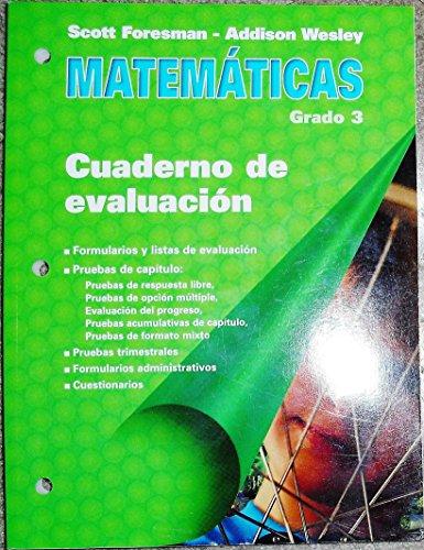 9780201365382: Matematicas (Cuaderno de evaluacion, Grado 3)
