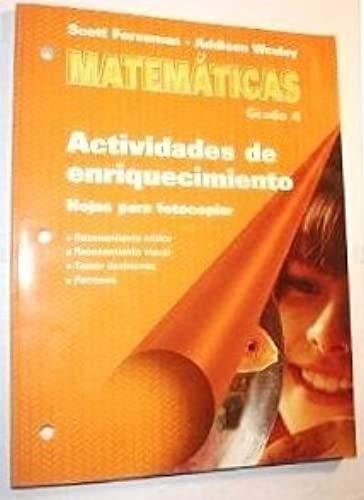 Matematicas - Actividades de enriquecimiento // Hojas: Scott Foresman