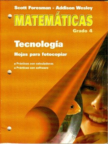 9780201365474: Matematicas, Grado 4, Tecnologia, Hojas para fotocopiar