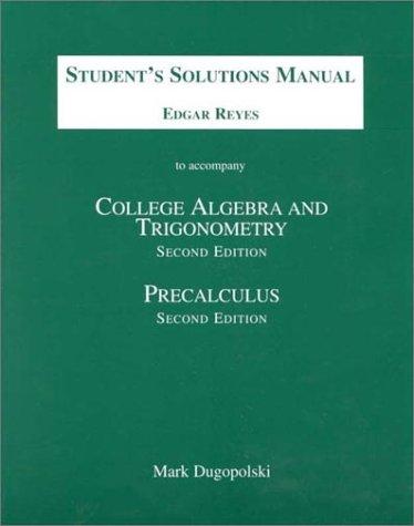 9780201383935: College Algebra and Trigonometry/Precalculus