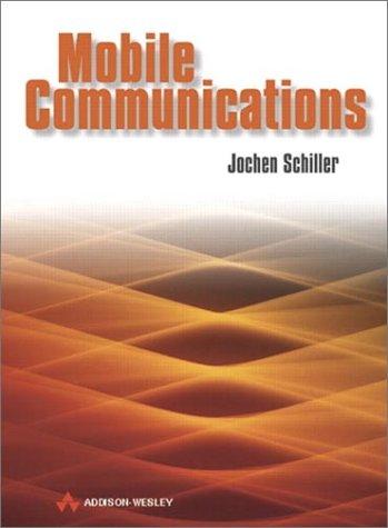 Best price mobile communications, 2nd edition, jochen schiller.