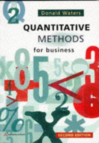 9780201403978: Quantitative Methods for Business