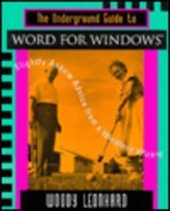9780201406504: The Underground Guide to Word for Windows