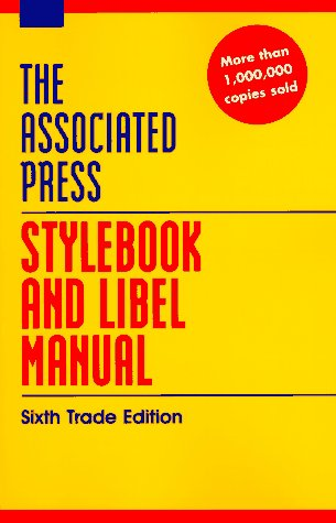 9780201407174: Associated Press Stylebook And Libel Manual: Sixth Trade Edition