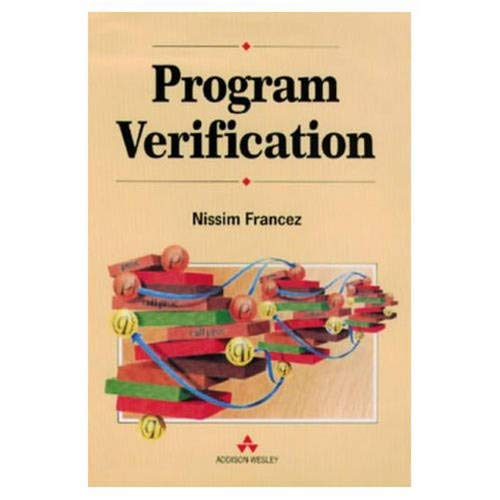 9780201416084: Program Verification (International Computer Science Series)