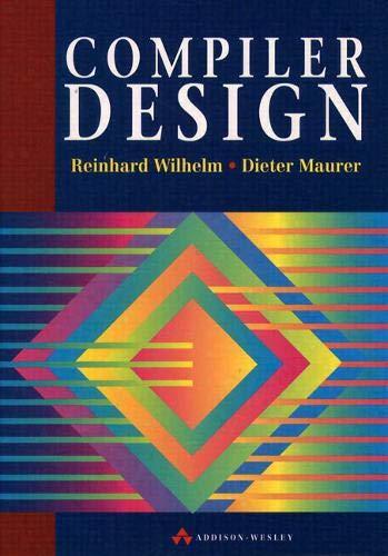 9780201422900: Compiler Design (International Computer Science Series)