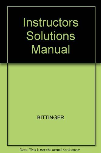 9780201434071: Instructors Solutions Manual