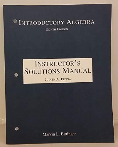 9780201434118: Instructors Solutions Manual