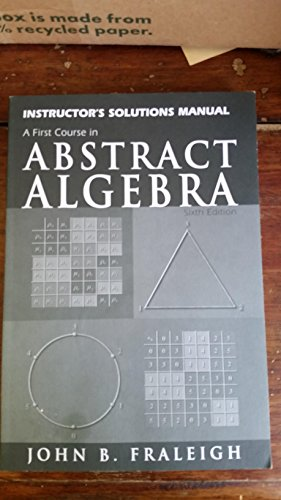 9780201437188: Instructors Solutions Manual to Abstract Algebra