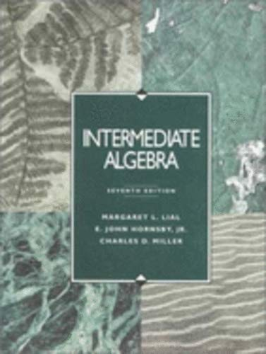 9780201441086: Intermediate Algebra