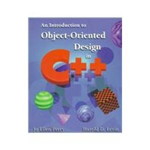 9780201441284: Introduction to Object Orient Design in C++