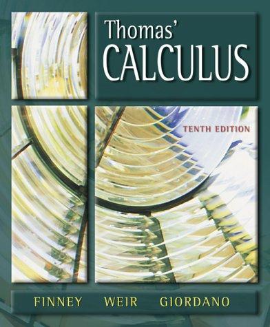 9780201441413: Thomas' Calculus (10th Edition)