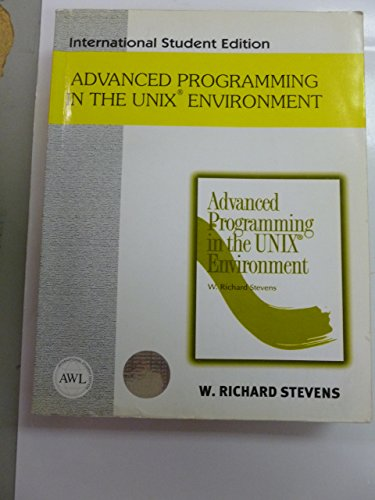 9780201455717: Advanced Programming in the Unix Environment (International Student Edition)