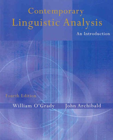 Contemporary linguistics an introduction by ogrady william abebooks contemporary linguistic analysis an introduction william ogrady fandeluxe Images