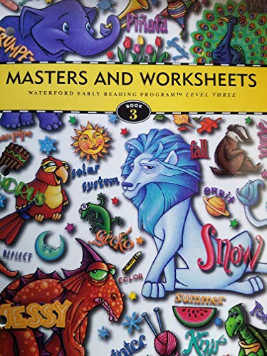 Masters and Worksheets; Waterford Early Reading Program: Waterford Institute