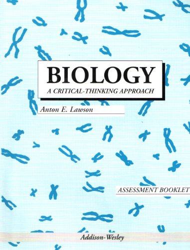 9780201490459: Biology a Critical Thinking Approach Assessment Booklet