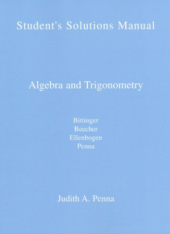 9780201498097: Algebra and Trigonometry: Students Solution Manual