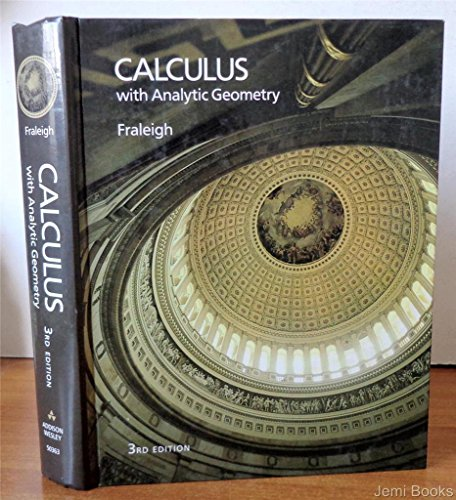 9780201503630: Calculus With Analytic Geometry