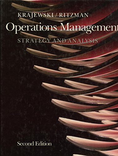 9780201504101: Operations Management: Strategy and Analysis