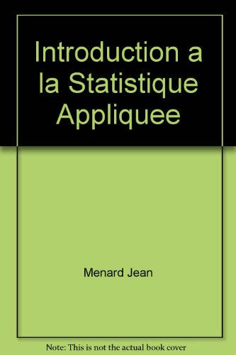 9780201507409: Introduction a la Statistique Appliquee
