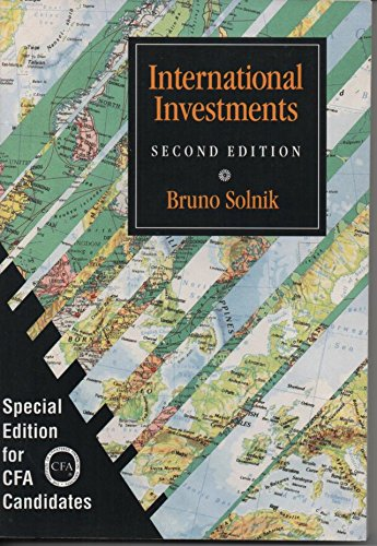 9780201507782: International Investments (Special Edition for CFA Candidates))