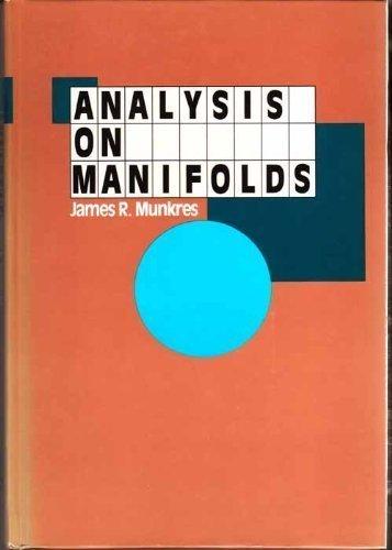 9780201510355: Analysis On Manifolds