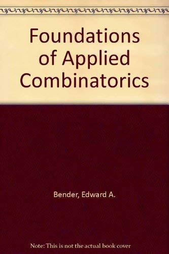 9780201510393: Foundations of Applied Combinatorics