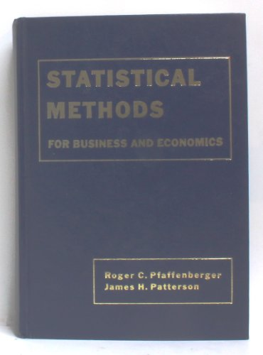 9780201513950: Statistical Methods for Business and Economics