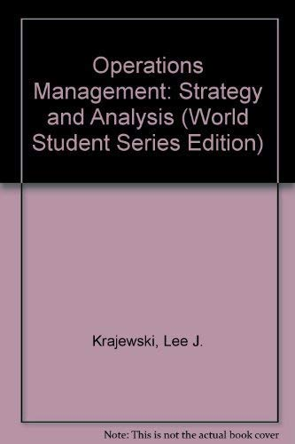 9780201517194: Operations Management: Strategy and Analysis