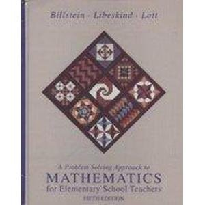 9780201525656: A Problem Solving Approach to Mathematics for Elementary School Teachers