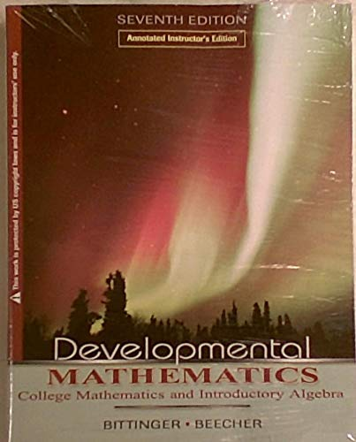 9780201525915: Developmental Mathematics