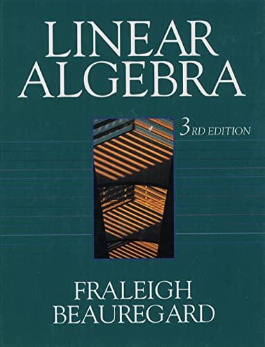 9780201526752: Linear Algebra, Third Edition