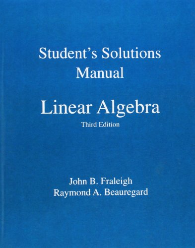 9780201526776: Student Solution Manual for Linear Algebra