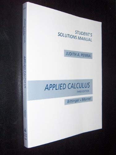 9780201529883: Applied Calculus