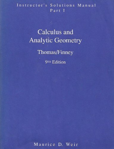 calculus and analytic geometry by thomas and finney solutions pdf