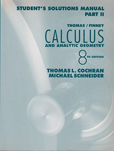 9780201533064: Calculus With Analytic Geometry (Part 2)