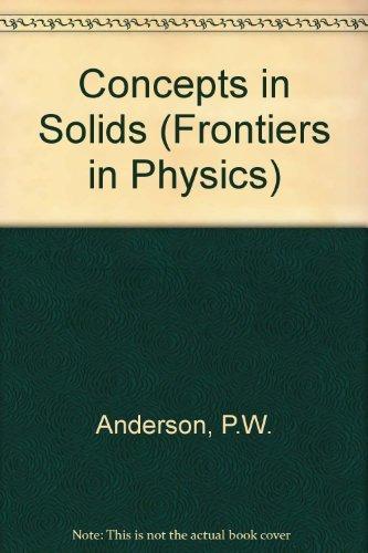 9780201533552: Concepts In Solids (Advanced Book Classics)