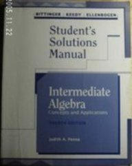 Students Solutions Manual to Intermediate Algebra 4e (0201537885) by BITTINGER