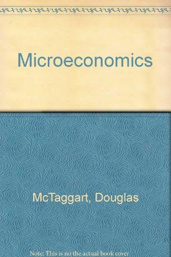 McTagaart Microeconomics: Douglas McTaggart