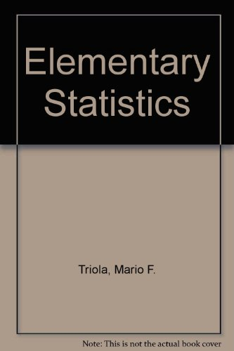 9780201540093: Elementary Statistics