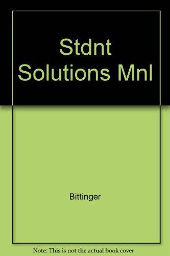 Basic Mathematics: Solutions Manual: Marvin L. Bittinger