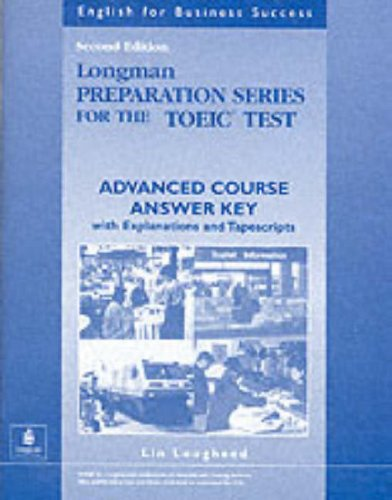 9780201542998: Longman Preparation Series for the TOEIC Test: Advanced Course - Answer Key
