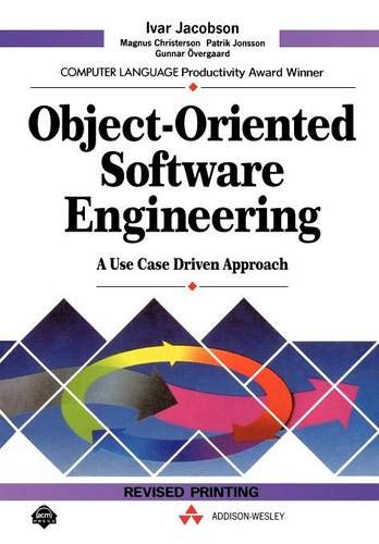 9780201544350: Object-Oriented Software Engineering: A Use Case Driven Approach