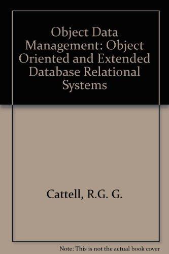 9780201547481: Object Data Management